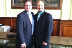 Mookie with State Representative Kevin Kuros.