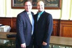 Mookie with State Representative Kevin Kuros.