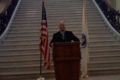 Mookie speaking at the Massachusetts State House